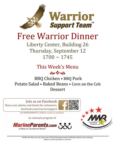 Warrior Support Team Dinner: September 12, 2019