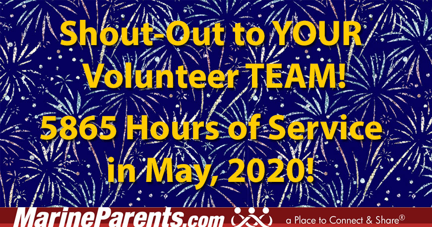 May Volunteers - Recognizing the Contributions