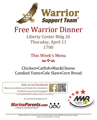 Warrior Support Team Dinner: April 11, 2019