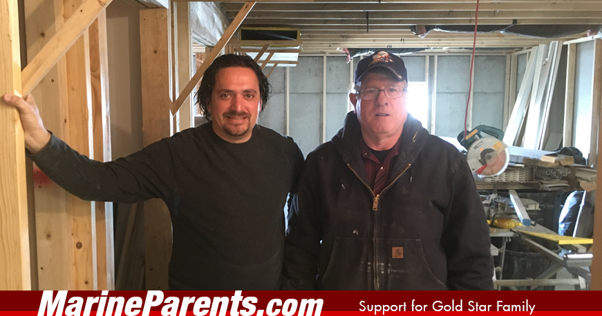 MarineParents.com Repairs Gold Star Family home
