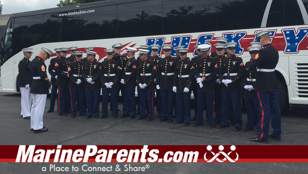 Marines Bus to funeral