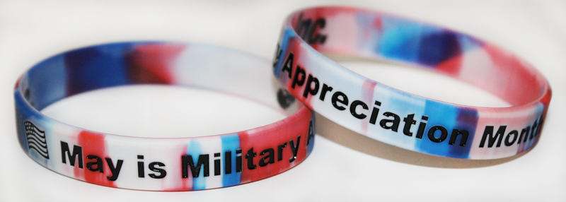 Military Appreciation Month wristband