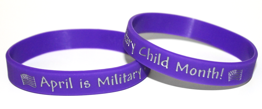 Month of the Military Child wristband