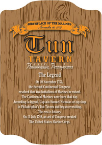 Tun Tavern Birthplace of the Marine Corps November 10 1775