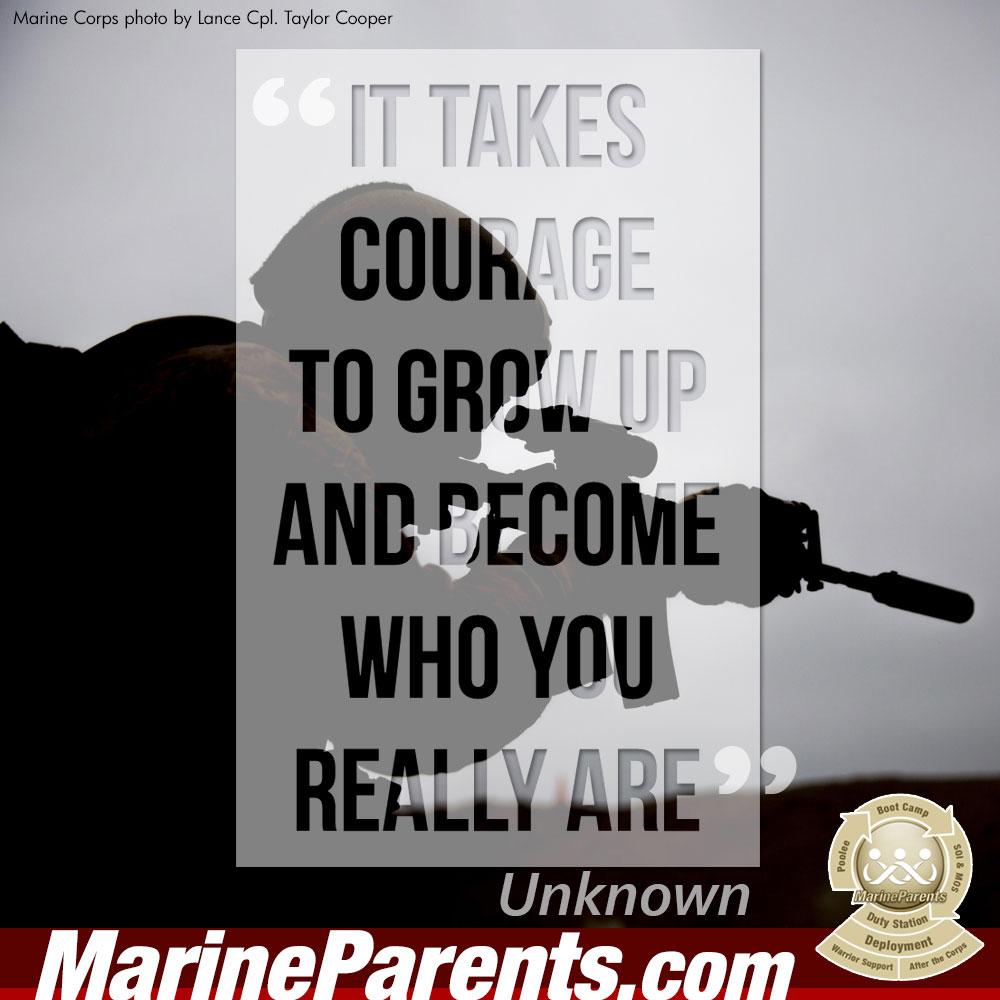 MarineParents.com USMC takes courage