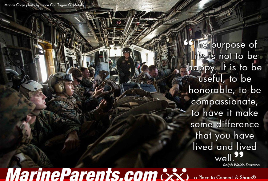 MarineParents.com USMC purpose of life