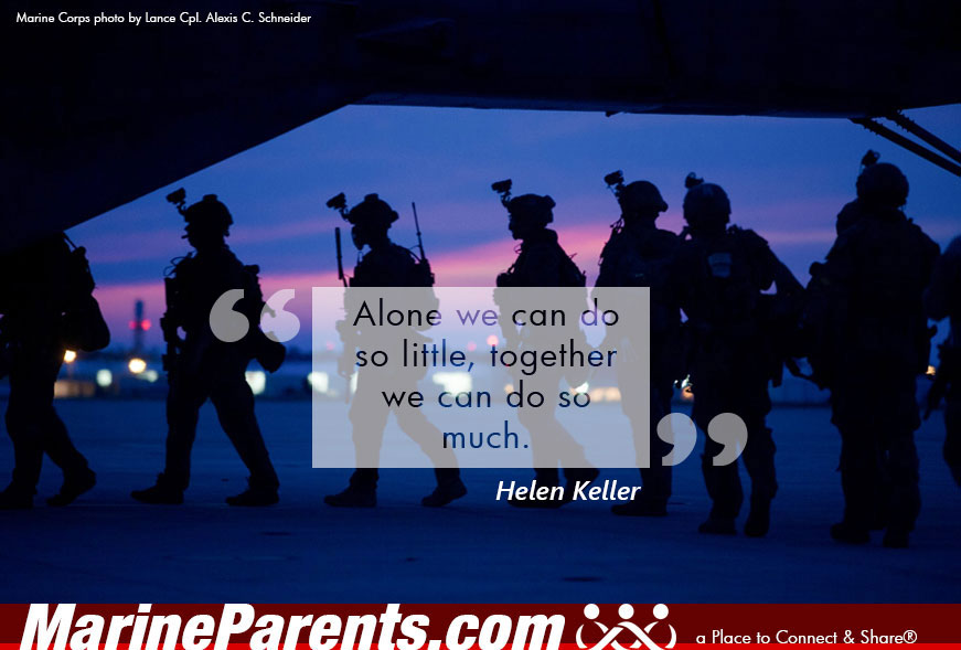 MarineParents.com USMC together we can do so much