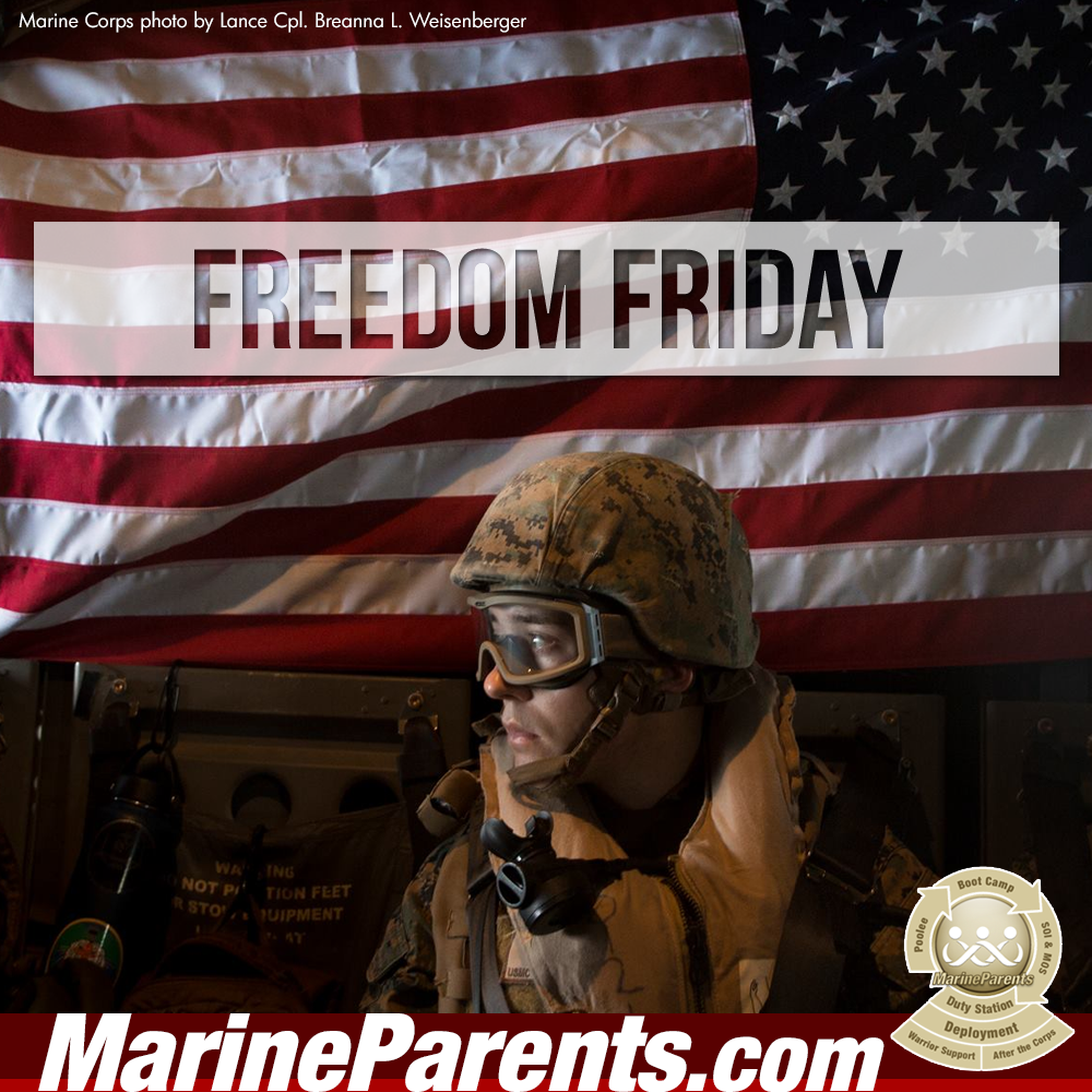 MarineParents.com USMC freedom friday #FREEDOMFRIDAY