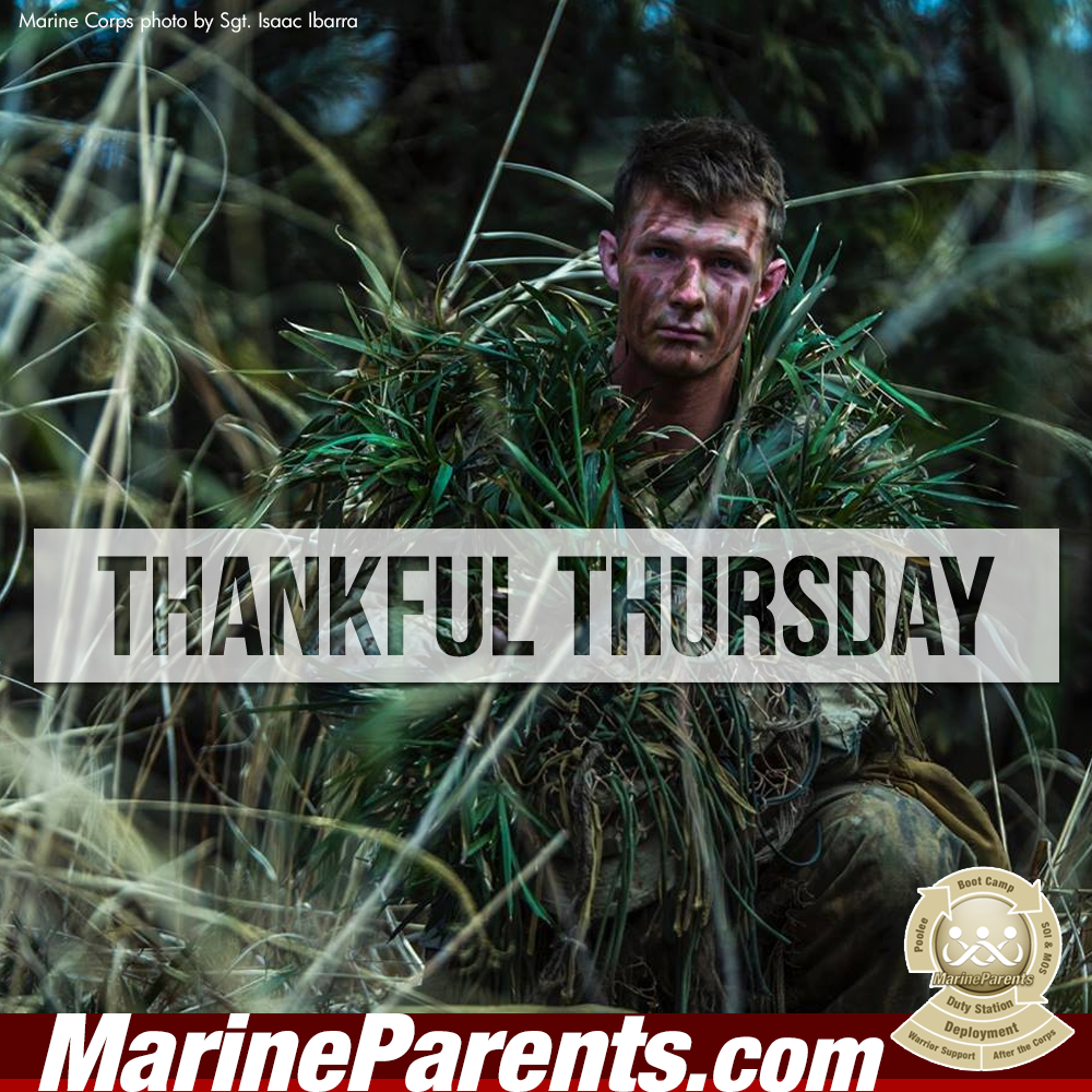 MarineParents.com USMC thankful thursday #THANKFULTHURSDAY