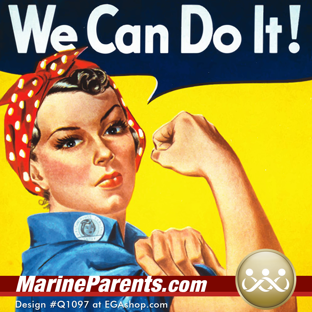 MarineParents.com USMC meme rosie the riveter