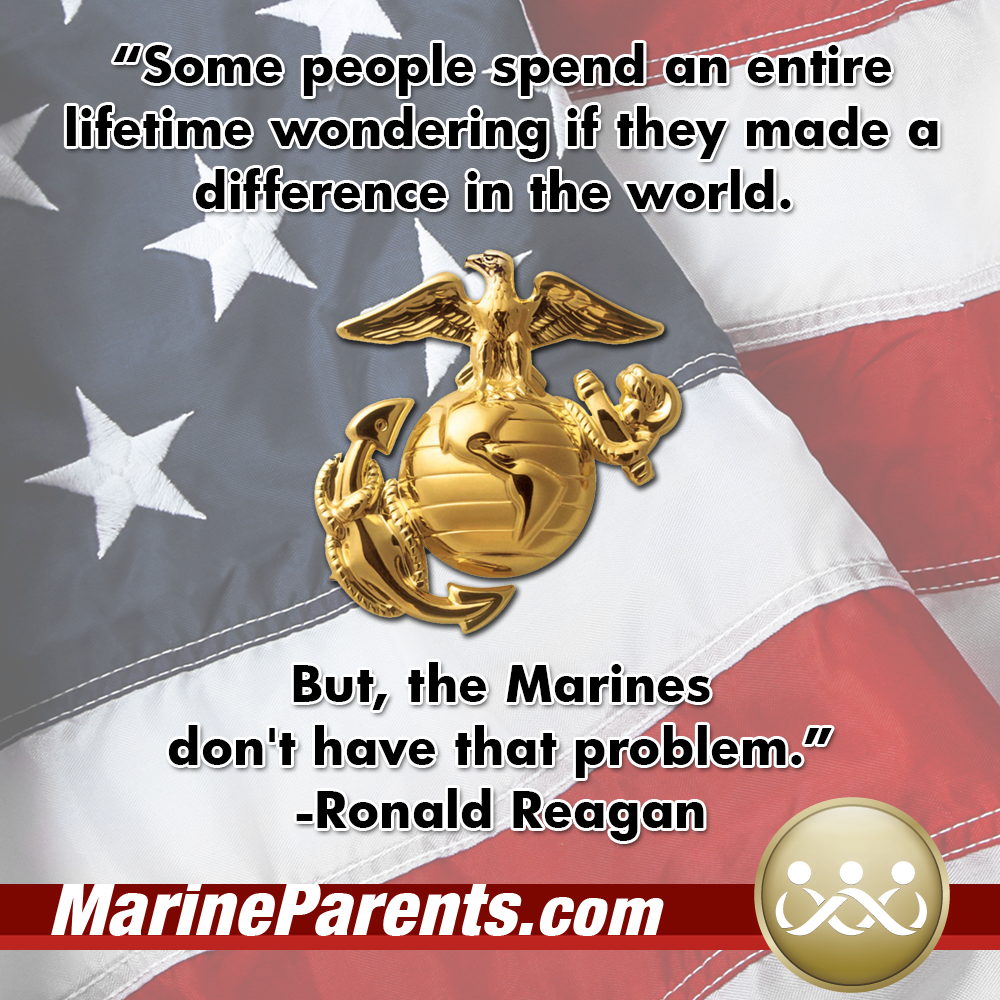 MarineParents.com USMC meme Ronald Reagan quote