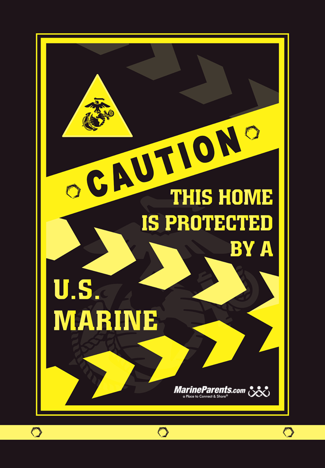 MarineParents.com USMC caution sign