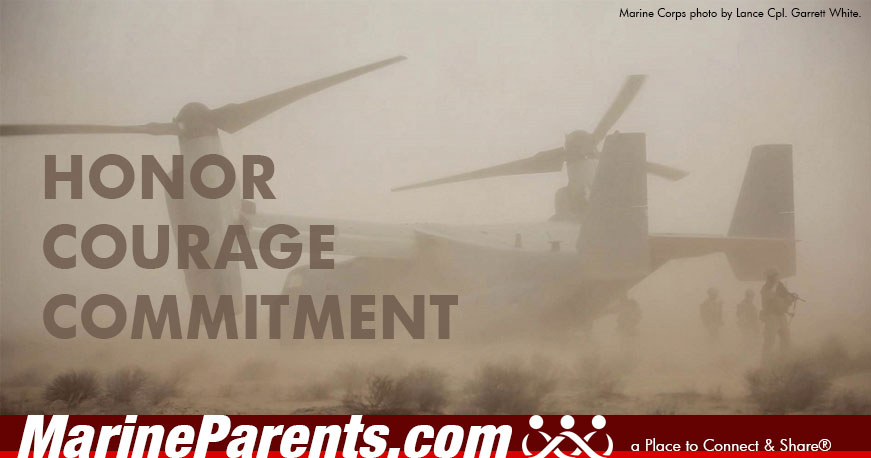 MarineParents.com USMC meme honor courage commitment