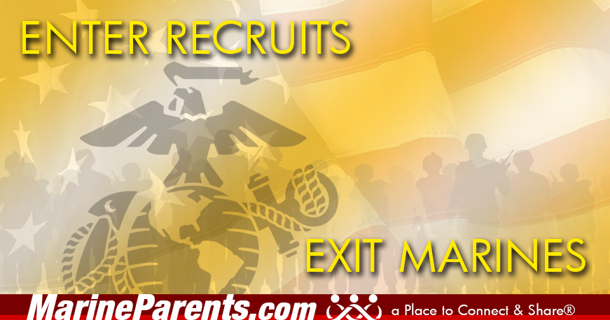 MarineParents.com patriotic enter recruits exit marines
