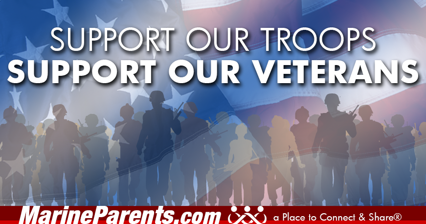 MarineParents.com patriotic support troops and veterans