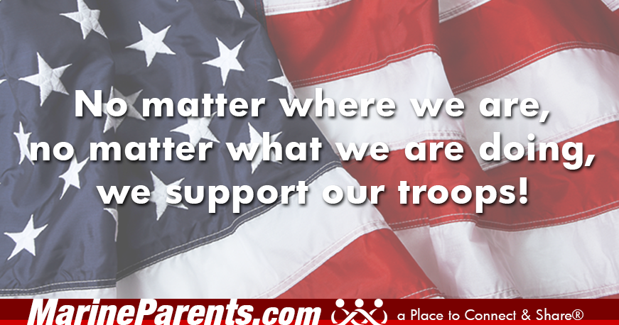 MarineParents.com patriotic support our troops