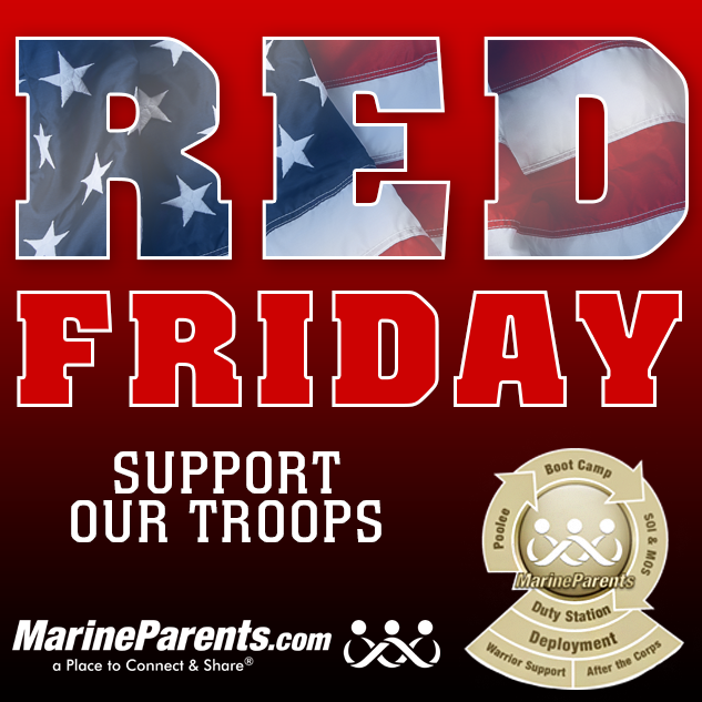 MarineParents.com Red Friday