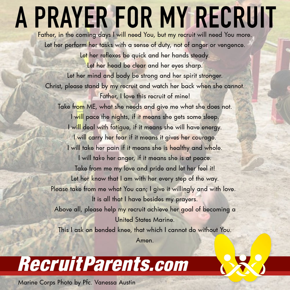 RecruitParents.com USMC the crucible female prayer