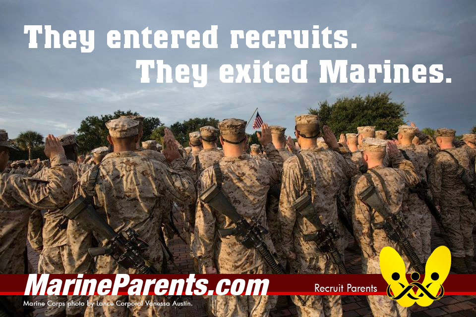 RecruitParents.com USMC the crucible they exited Marines