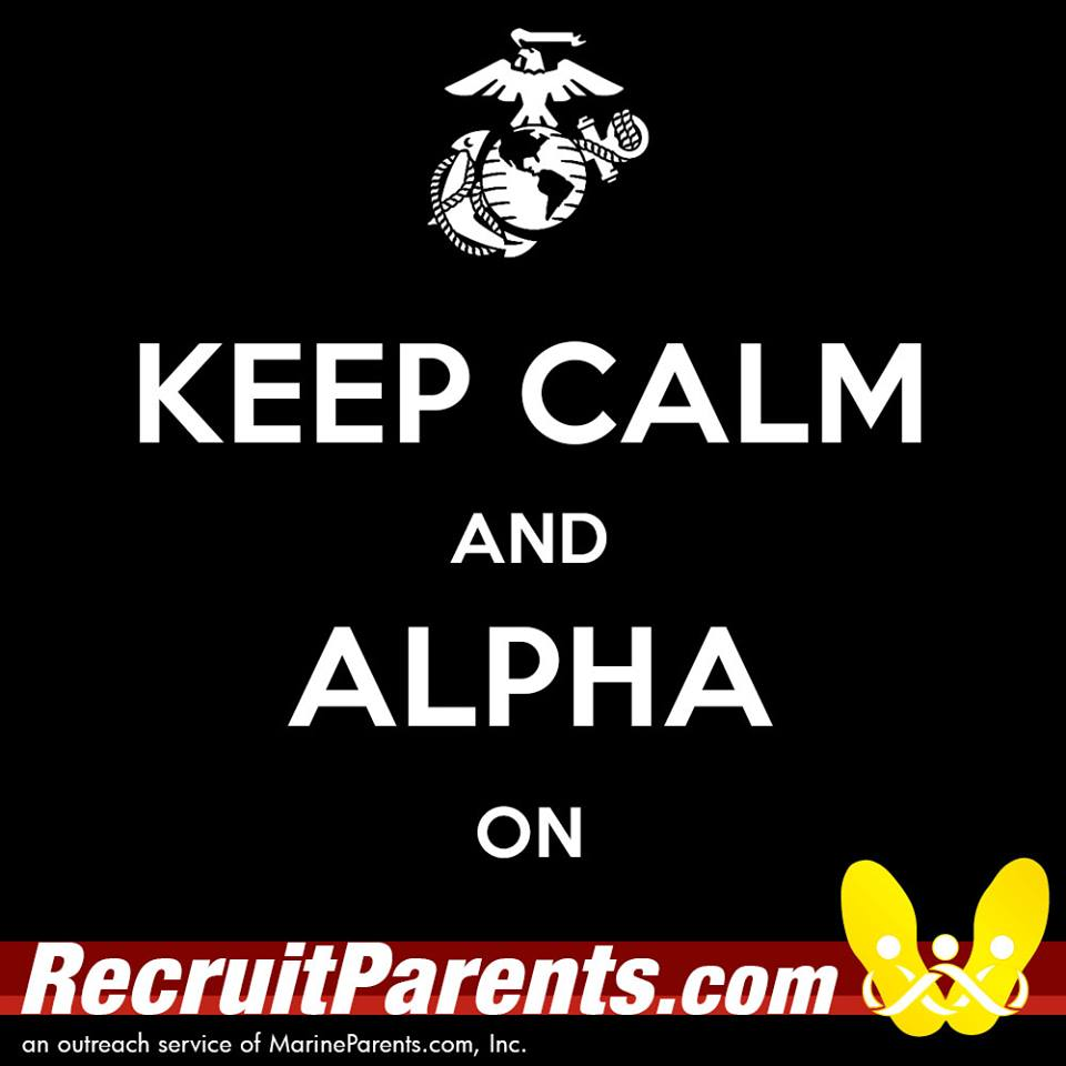 RecruitParents.com USMC keep calm alpha