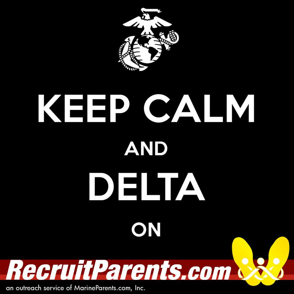 RecruitParents.com USMC keep calm delta