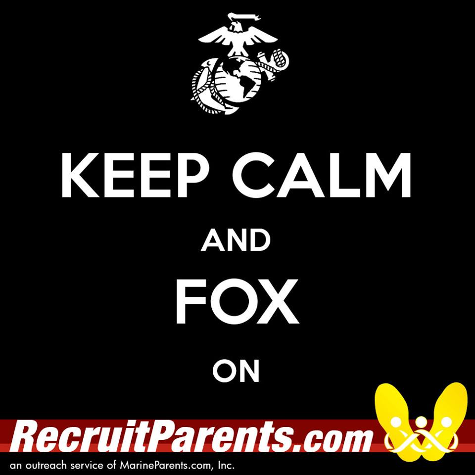 RecruitParents.com USMC keep calm fox