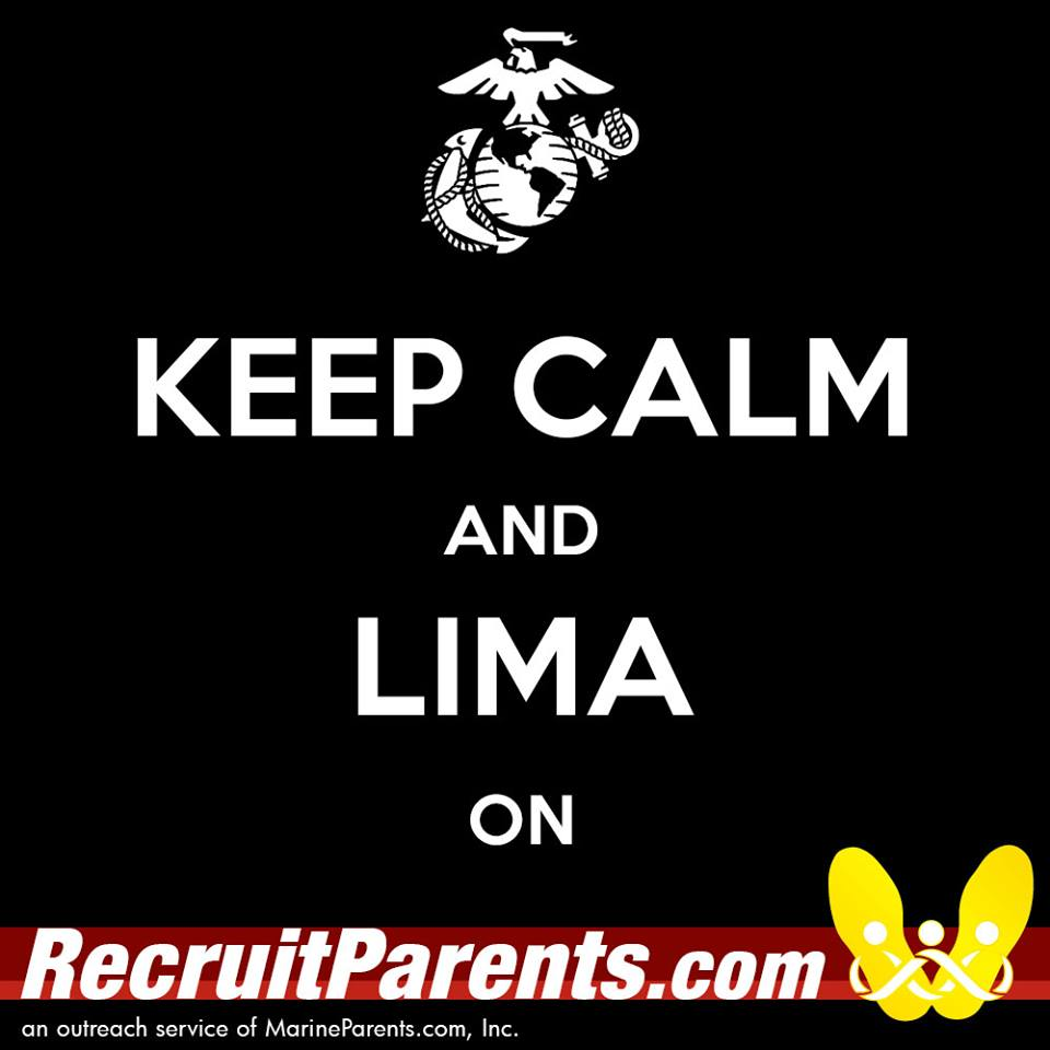 RecruitParents.com USMC keep calm lima