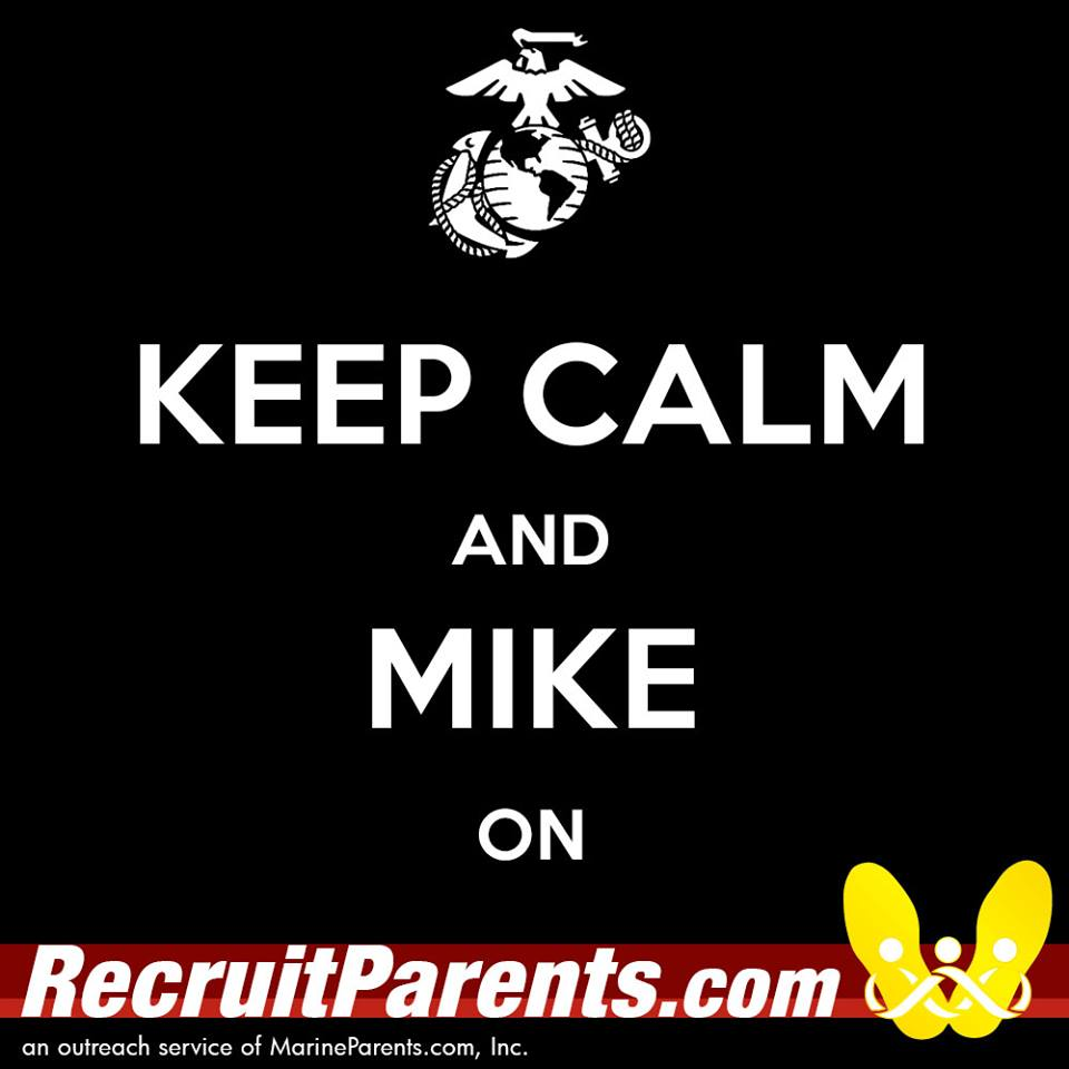 RecruitParents.com USMC keep calm mike