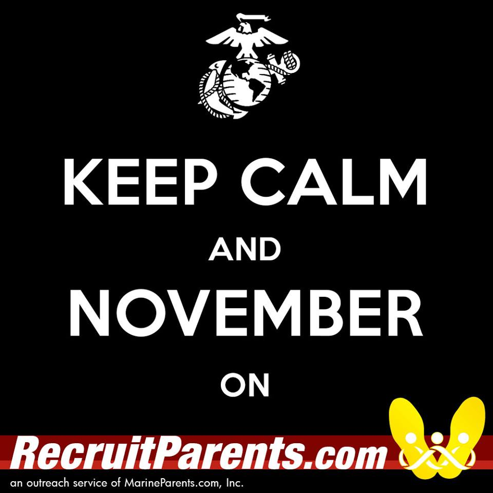 RecruitParents.com USMC keep calm november