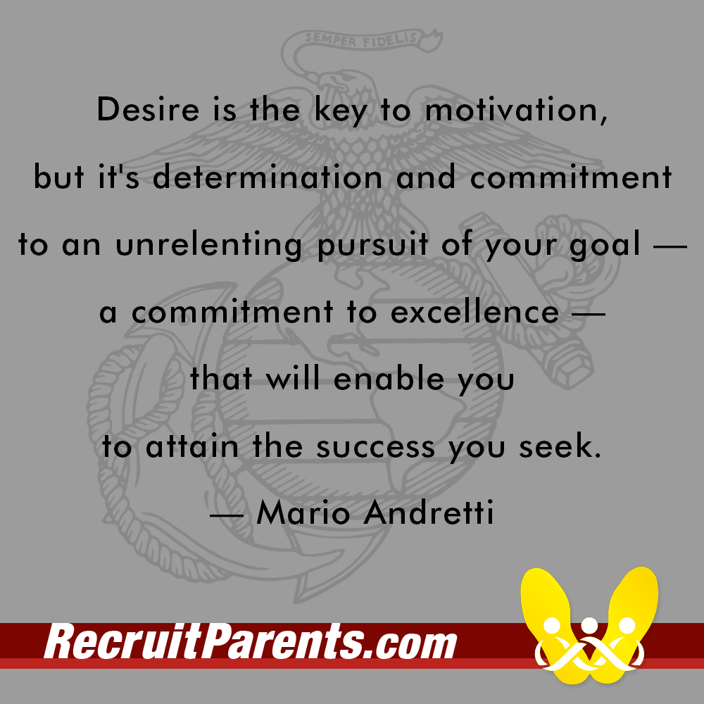 RecruitParents.com USMC mario andretti quote