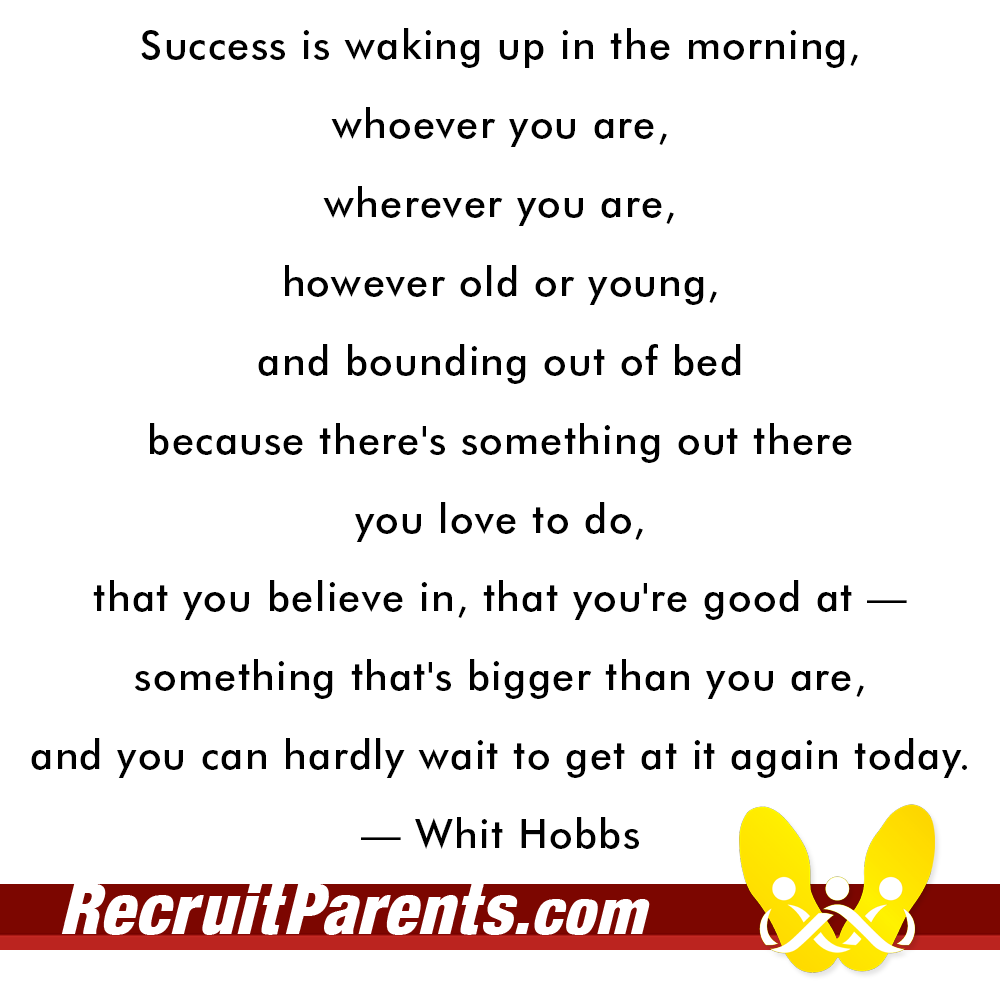 RecruitParents.com USMC whit hobbs quote