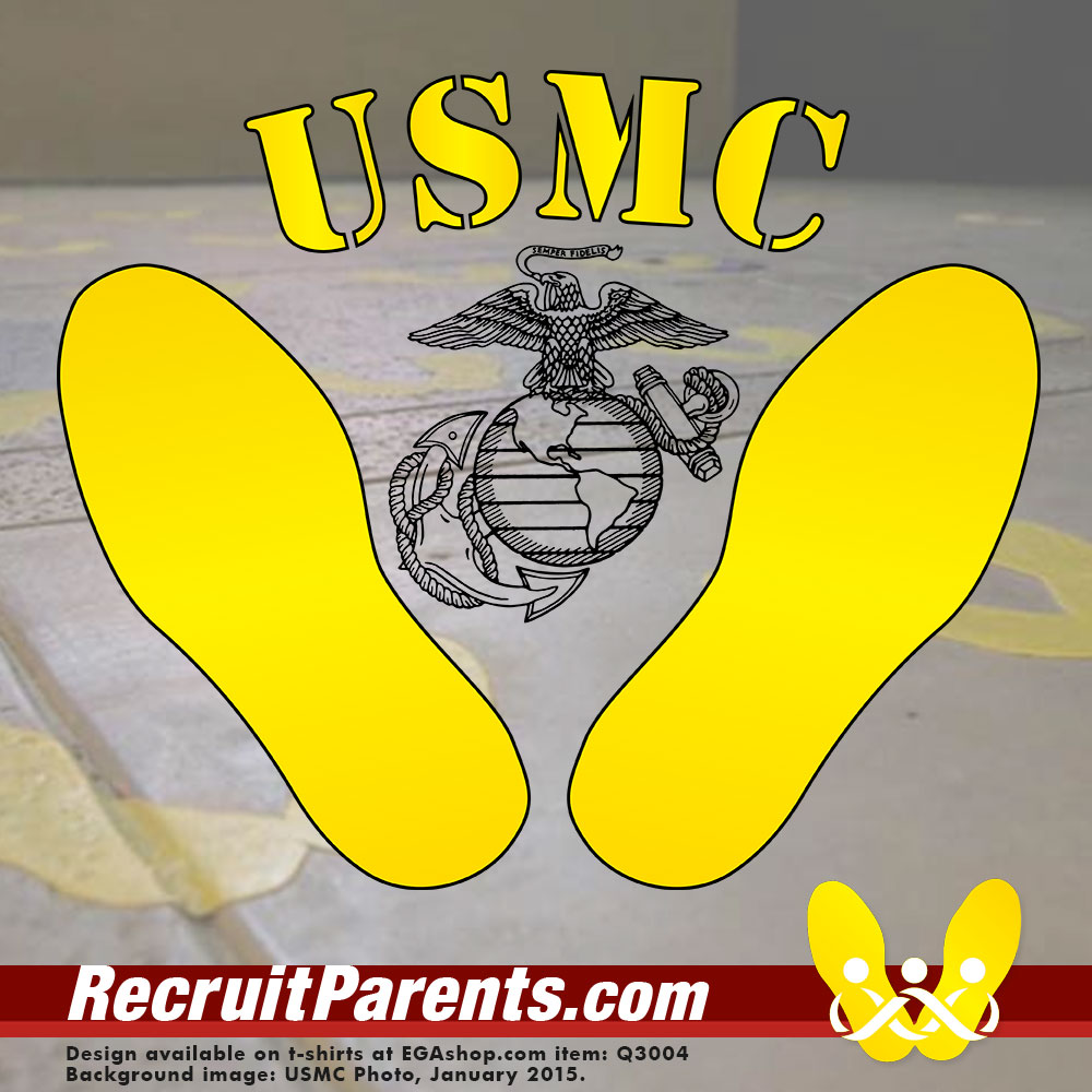 RecruitParents.com USMC yellow footprints