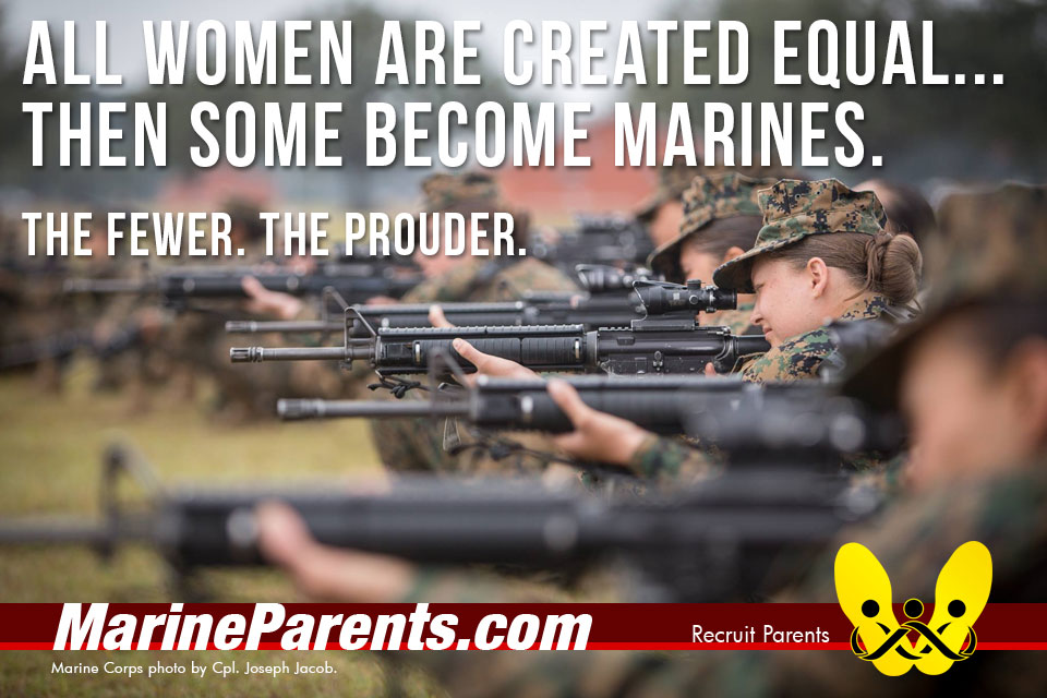 RecruitParents.com USMC women the few the prouder