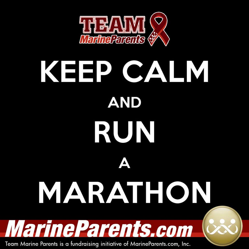 Team Marine Parents Keep Calm USMC Marine Corps Marathon