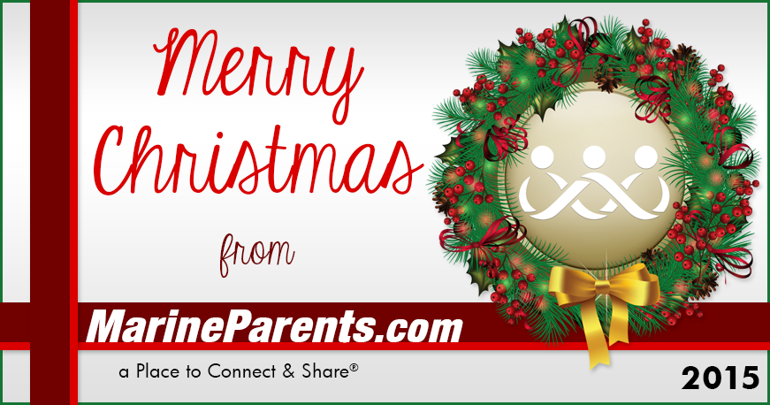Merry Christmas Marine Parents Family!