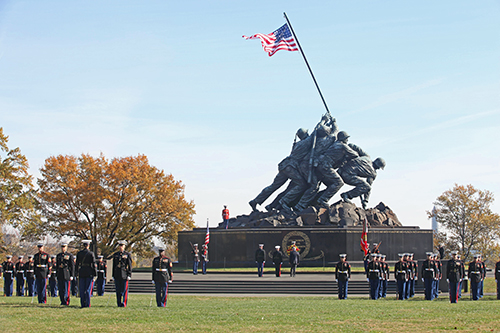 This Week in Marine Corps History: Flag Flies Continuously at Marine Corps Memorial