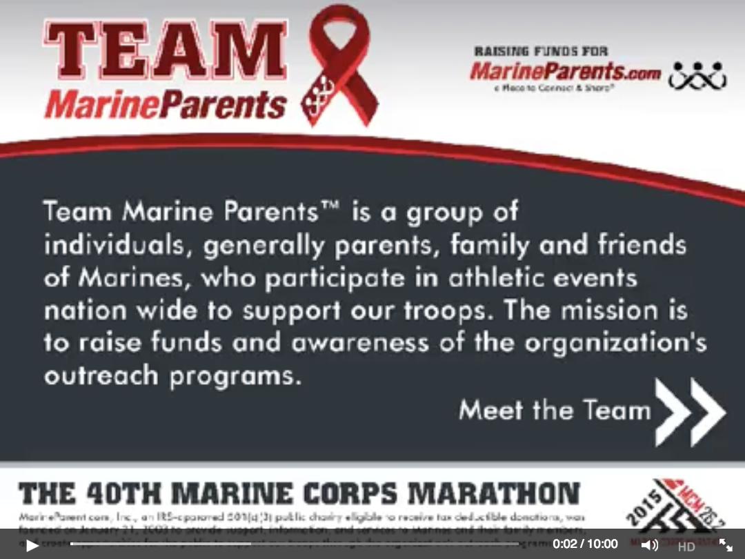 Team Marine Parents MCM Slideshow