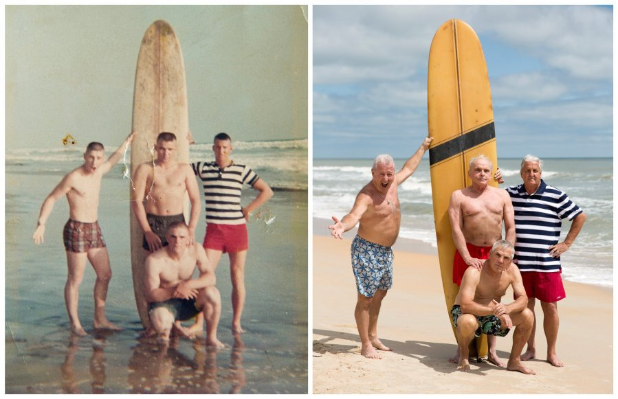 Retired Marines Recreate Photo Half a Century Later