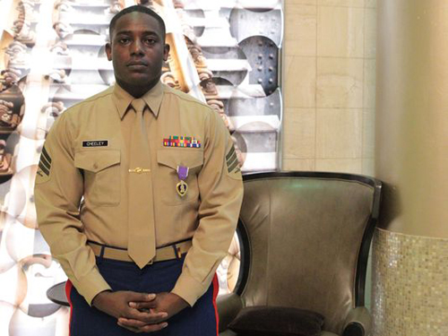 Marine Injured in Chattanooga Attacks Receives Purple Heart