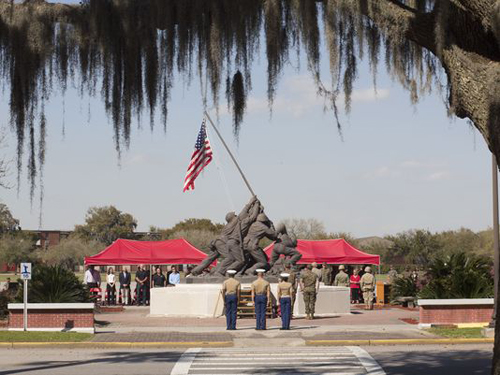 Marine Corps News: Iwo Jima Monument at Parris Island Refurbished
