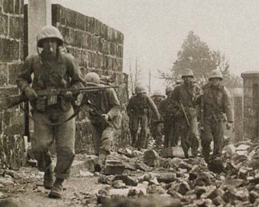 Marines March Toward Naha, Okinawa