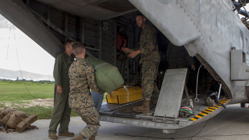 Marines Provide Hurricane Relief