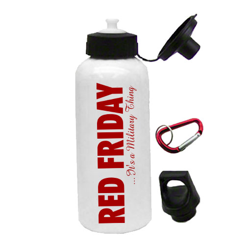 red friday waterbottle