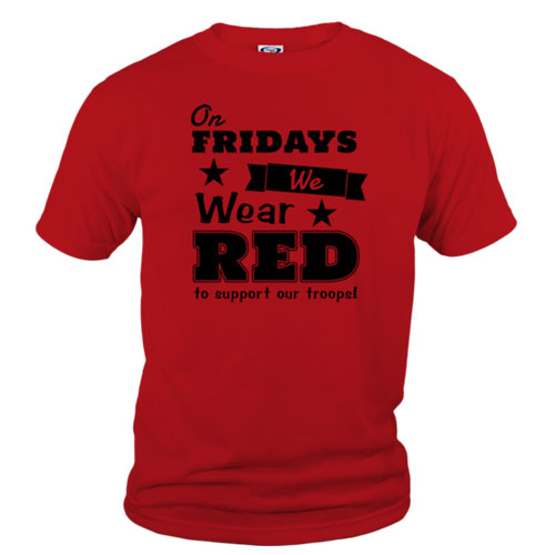 on fridays we wear red tshirt