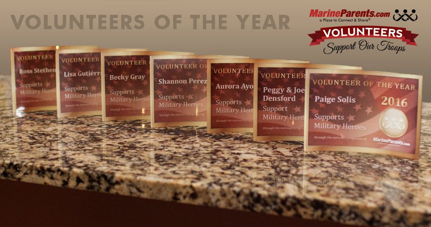2017 MarineParents.com Plaques for Volunteers of the Year