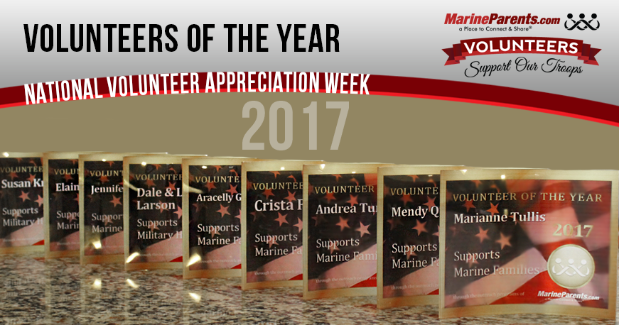 2018 MarineParents.com Plaques for Volunteers of the Year